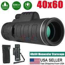 40x60 Zoom HD Monocular Starscope W/ Night Vision BAK4 FMC Optics
