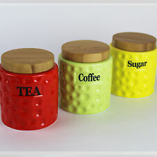 Four Seasons Set Of 3 Tea Coffee Sugar Canisters Containers In A Vintage Black And White Style Liverpool For Christmas