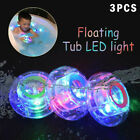 3PCS Badewannenspielzeug Licht Unterwasserbeleuchtung RGB Bunte LED-Blinklampe