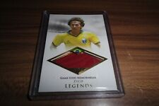 "2018 FUTERA UNIQUE SOCCER LEGENDS ZICO ""WHITE PELE"" JERSEY PATCH /27 REALLY RARE"