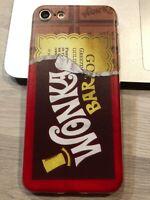 Coque Protection neuve Iphone 7 ou Iphone 8 silicone souple Chocolat Wonka Bar