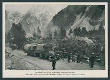 Dt. Alpenkorps Kraftfahrtruppe Paßstraße Flitsch Bovec Schlacht von Tolmein 1917
