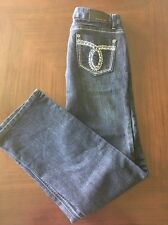 408d59e8285 Inseam  28. Baccini Womens Jeans Petite Size 6P Boot Cut Stretch Dark Wash  Rhinestone Pocket