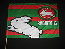 NRL SOUTH SYDNEY RABBITOHS FLAG GAME DAY 850x600mm  on stick - NEW