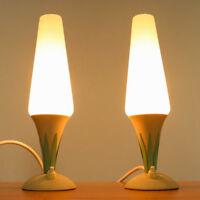 Altes Paar Nacht Tisch Lampen Lese Tisch Leuchten 50er 60er Jahre vintage MCM