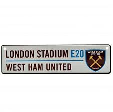 West Ham United FC Hanging Metal Novelty Mini Street Sign E20