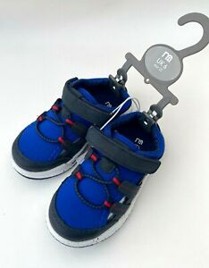 MOTHERCARE Boys Sandals Shoes Summer Baby Navy Blue Closed Toe Walking Beach NEW