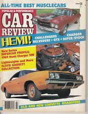 MUSCLE CAR REVIEW 1986 FEB - HEMIs, SS454, VETTES CHARGER , 69 PAGES /T4
