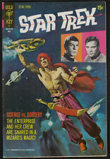 """3751)  GOLD KEY ISSUE """"STAR TREK""""  COMIC FROM 1971 No 10"""