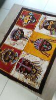 Bello Batik Tessuto Etnico Africa Di WEST Costa Avorio Maschere Africani