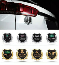 2pcs 3D Metal Car Side Door Badge Sticker Side Window Emblem Decal Car mark side