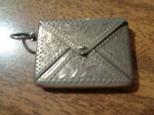 ANTIQUE SILVER FOB STAMPS BOX