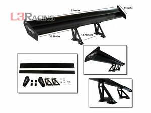 RTUNES RACING GT Type V BLACK Adjustable Aluminum Spoiler Wing For Chev