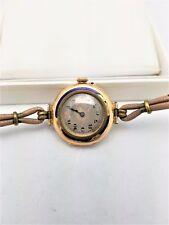Vintage  Rolex 15 K Gold Original Ladies Wrist Watch