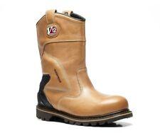 V12 Tomahawk Steel Toe Waterproof Vintage Leather Safety Rigger BOOTS Brown UK 13
