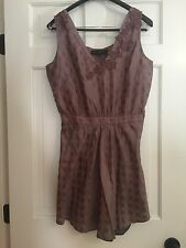 Isabel Marant...100% Silk Sleeveless Dress With Brown Floral Embroidery  Size 3
