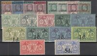 D2999/ BRITISH NEW HEBRIDES – 1908 / 1924 MINT SEMI MODERN LOT – CV 125 $