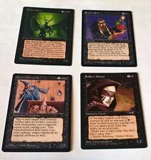 Lot de 4 cartes Magic, The Wretched, Siphon Soul, Xenic Poltergeist - Legends