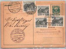 Gp Goldpath: Austria Postal Card 1933 _Cv622_P13