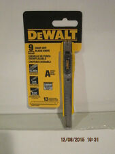 DEWALT DWHT10037 9mm Snap Off Knife-FREE SHIPPING NEW IN SEALED RETAIL PACKAGE!!