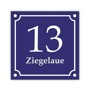 Hausnummernschild Hausnummer Emaille Design verschied. Ausführungen/ Designs