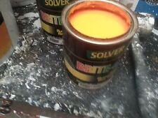 SOLVER 1 LITRE BRITE-GLO SCENIC FLURO FLAT ACRYLIC ORANGE-YELLOW colour paint