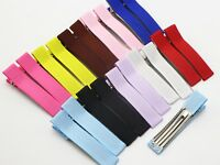 20 Grosgrain Ribbon Half Covered Metal Double Prong Alligator Hair Clips 48mm