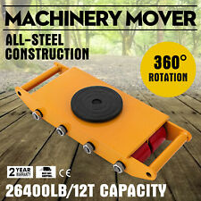 Industrial Machinery Mover 12T/26400Lbs Machinery Skate with Steel Rollers
