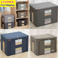 4-Color Foldable Cloth Blanket Quilt Closet Sweater Storage Bag Organizer Box US