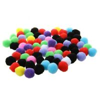 80 pcs Round Multicolored Pompon Balls. A8E5