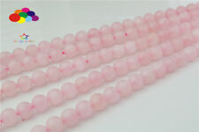 New Diy 4 6/8/10/12 mm Natural Stone Rose Quartz Round Beads fit Yoga bracelet