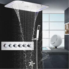 Wall Mounted Ceiling Shower Head Thermostatic Shower Set SPA Massage Shower
