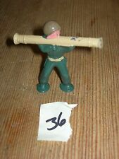 ca 1960'S BARCLAY DIMESTORE LEAD TOY SOLDIER WITH BAZOOKA #36
