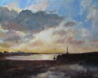 Oil Painting, Evening Light Over Margate. Tonalist Impressionism, from J Smith.