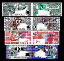 2x 10,25,100,1000 niederländische Gulden - Ausgabe 1989-1997 - 8 Banknoten - 01