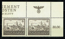 Germany WW2 Third Reich Castle in General Government rare stamp block 1943 MNH
