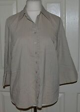 Evans Hip Length Collared Tops & Shirts Size Plus for Women