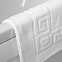 2x Bath Mat Hotel Quality Greek Key Design, Checkerboard Picture F 100% Cotton