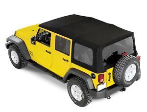 2007-2018 Jeep Wrangler Unlimited Black Soft Top 4 Door JK MOPAR OEM NEW NOS