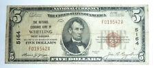 National Currency Banknote Series 1929 Wheeling West Virginia Nat. Exc. $5 #5164
