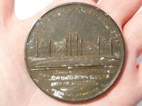 1829 Oldham Blue-Coat School Bronze Medal RARE but a/f READ !! #E14