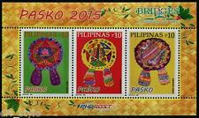 Noël 2015 souvenir feuille of 3 MNH Timbres PHILIPPINES