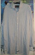 English Laundry Long Sleeve 100% Cotton Button Shirt with French Cuffs: 18.5 XLT
