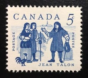 Canada #398 MNH, Jean Talon and Colonists Stamp 1962
