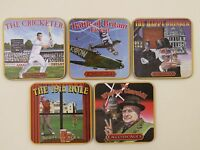 5 England Beer Cork Coasters ~ London Pub Paraphernalia Signs ~ Edition 4 Of 4