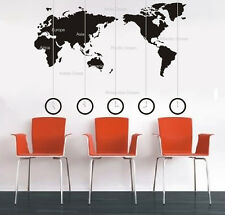 SUPER Large black World Map wall stickers Decal Removable Art Vinyl Decor DIY