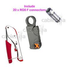 Universal Compression Tool Stripper RG6 RG59 Coaxial Cable BNC RCA F Connector