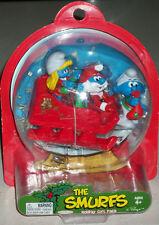 The Smurfs Elf Jokey Elf Smurfette Santa Papa Clause Action Figures Xmas Claus