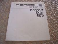PORSCHE OFFICIAL 924 TECHNICAL DATA INSERT FOLDER SALES BROCHURE 1979 USA Ed