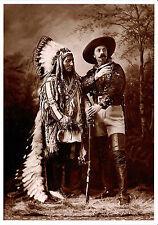 Set of Four Buffalo Bill/Sitting Bull Postcards